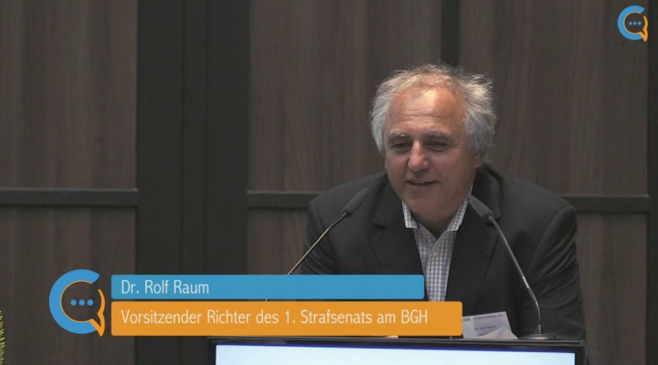DICO FORUM Compliance 2016 – Keynote-Speech VRiBGH Dr. Rolf Raum