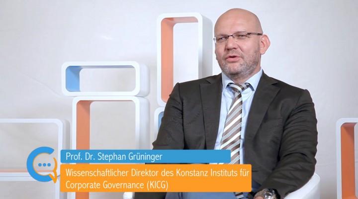 Testimonial Prof. Dr. Stephan Grüninger