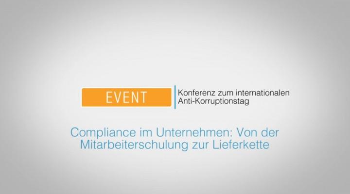 Keynote und Podiumsdiskussion zum int. Anti-Korruptionstag