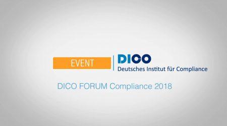 Vielfalt beim DICO FORUM Compliance 2018