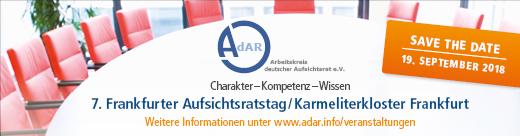 7. Frankfurter Aufsichtsratstag – 19. September 2018!