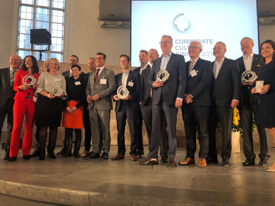 Die Gewinner des Corporate Culture Awards