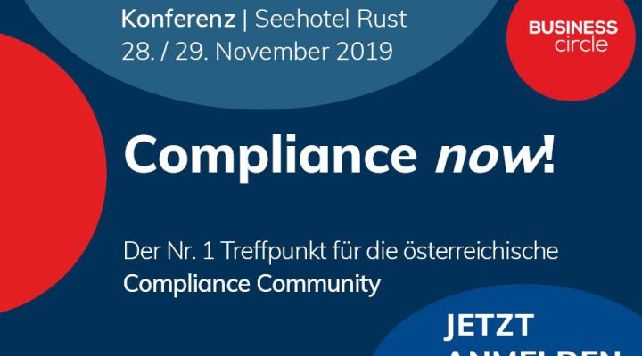 28./29. November 2019 – COMPLIANCE NOW! in Rust