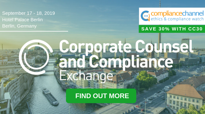 Corporate Counsel & Compliance Exchange in Berlin on September 17 – 18, 2019