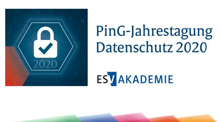 Datenschutz direkt zum Auftakt 2020 mit der PinG-Jahrestagung