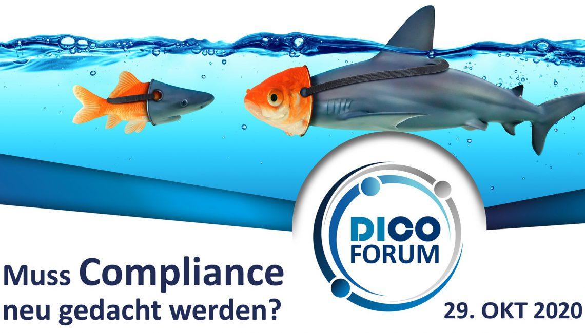 DICO ONLINE FORUM am 29. Oktober 2020 – Anmeldungen sind ab sofort möglich!