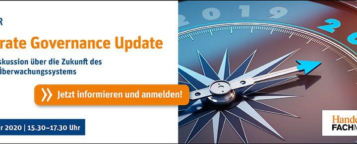 Wir sind Medienpartner beim virtuellen Corporate Governance Update am 26.10.2020!