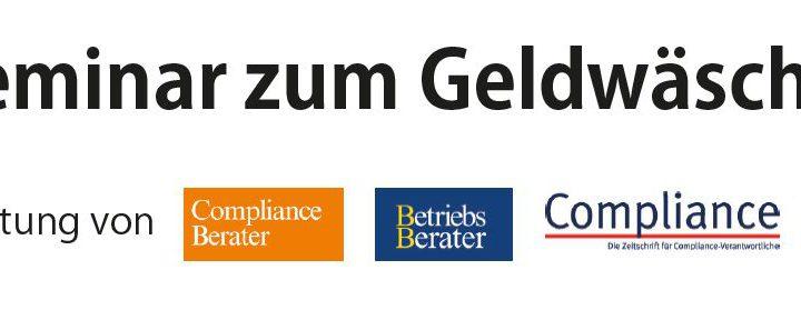 Wir begleiten das Praxisseminar zum Geldwäschegesetz am 28.01.2021!