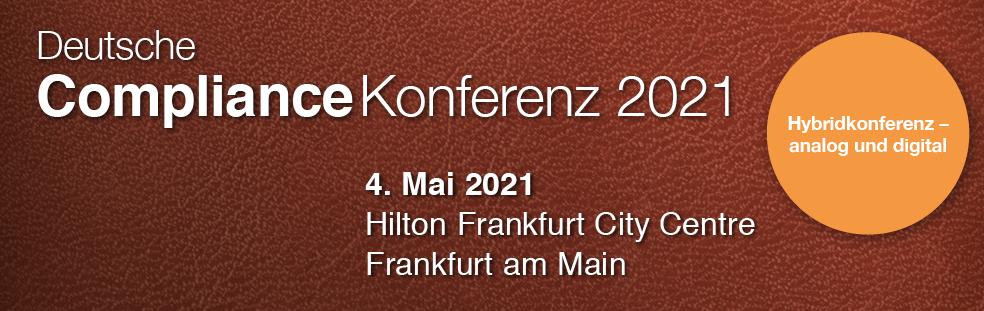 Hybridveranstaltung: Deutsche Compliance Konferenz in analog und digital! Und wir sind Medienpartner!
