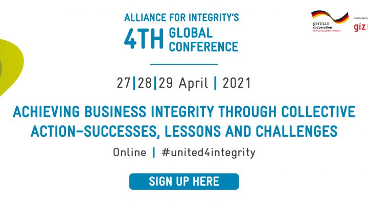 Alliance for Integrity's 4th Global Conference – 27. bis 29. April 2021
