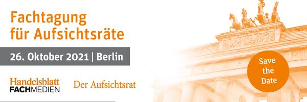 Wir sind Medienpartner beim 10. Jubiliäum der Fachtagung für Aufsichtsräte in Berlin!