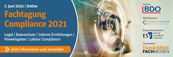 Fachtagung Compliance 2021 online am 07. Juni 2021